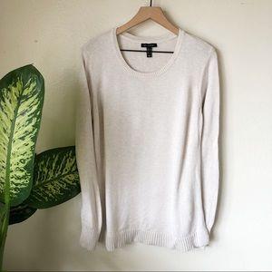 H By Halston   Swing Hem Pullover Sweater